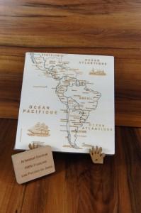 Puzzle Amérique du Sud JS chevalet panneau Art