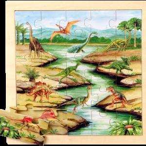 Puzzle Animaux Dinosaures détouré 230414