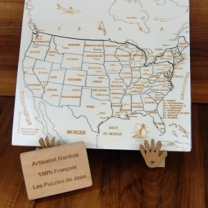 Puzzle Etats Unis JS chevalet panneau Art