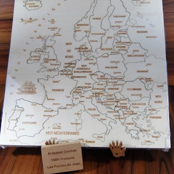 Puzzle Europe JS chevalet panneau Art