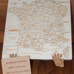 Puzzle France JS chevalet panneau Art