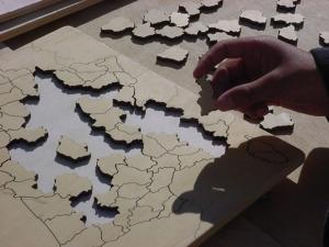 Puzzle France vierge Animation