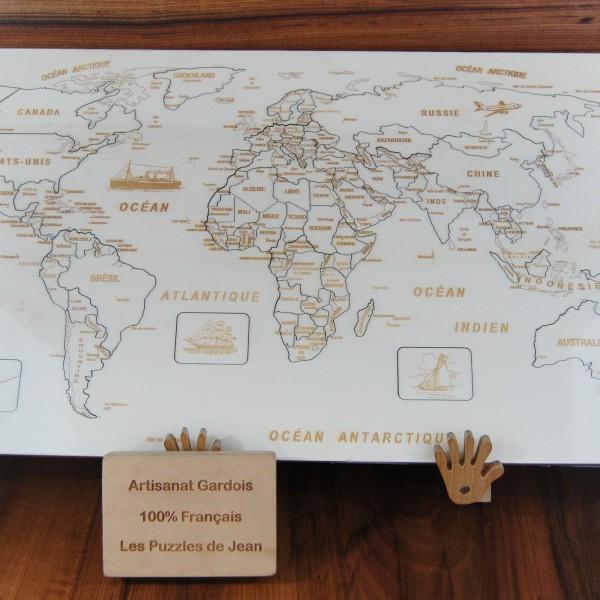 Puzzle Monde JS chevalet panneau Art 1