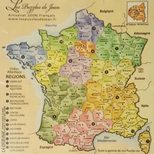 Puzzle France couleur 13 régions TL