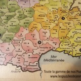 Puzzle France couleur TL Auvergne Rhone Alpes et Occitanie