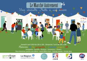 Affiche Le Marché Autrement 6 & 7 Avril 19