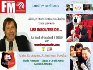 Affichette Les Insolites Alain Rousseau AM 270319